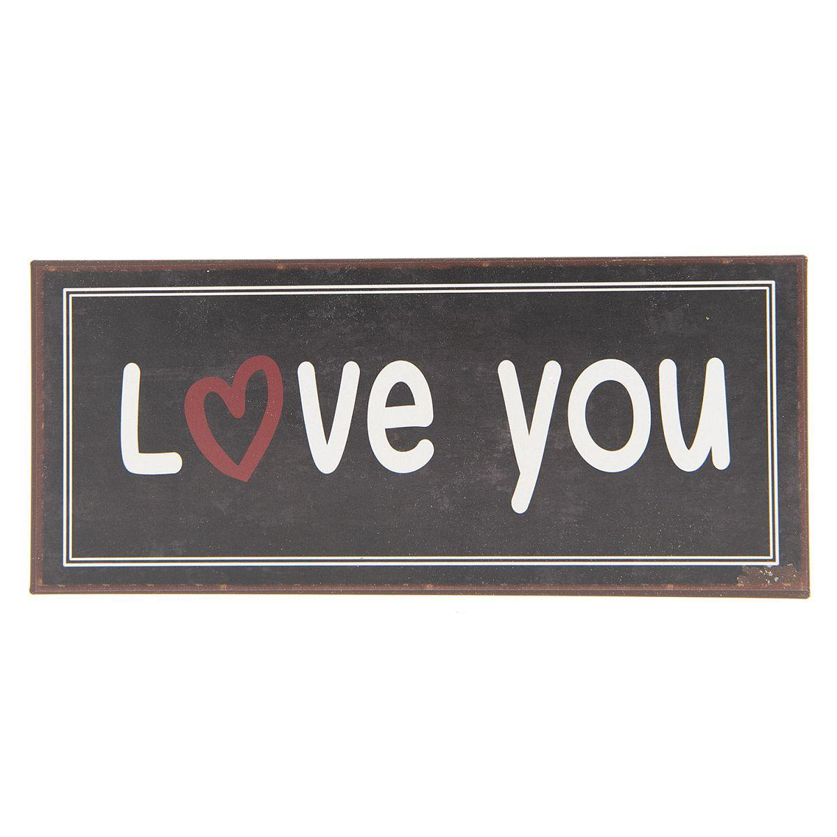 1- Plechová cedule LOVE YOU