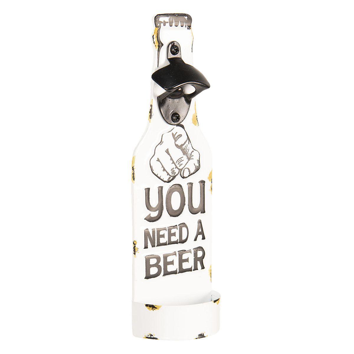 Nástěnný otvírák lahví YOU NEED A BEER