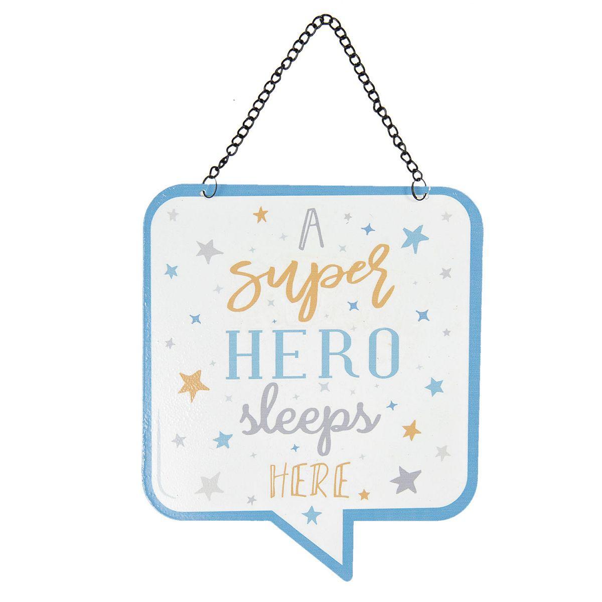 Závěsná plechová cedule SUPER HERO
