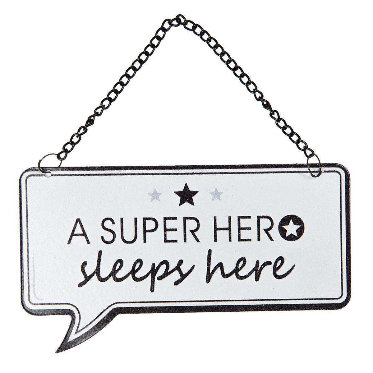 Závěsná plechová cedulka SUPER HERO