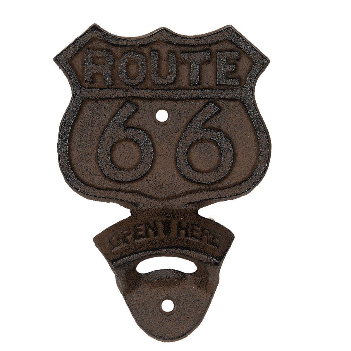 Nástěnný otvírák lahví ROUTE 66