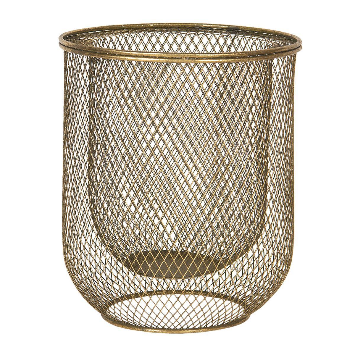 1- Dekorativní zlatý košík nebo svícen