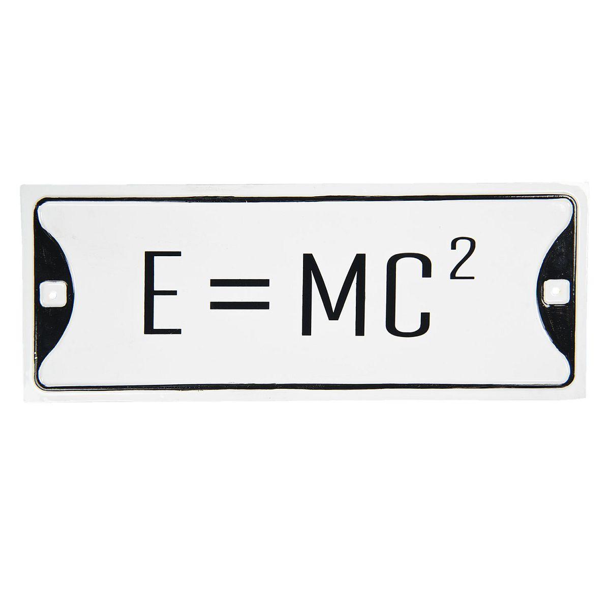 1- Kovová cedule rovnice