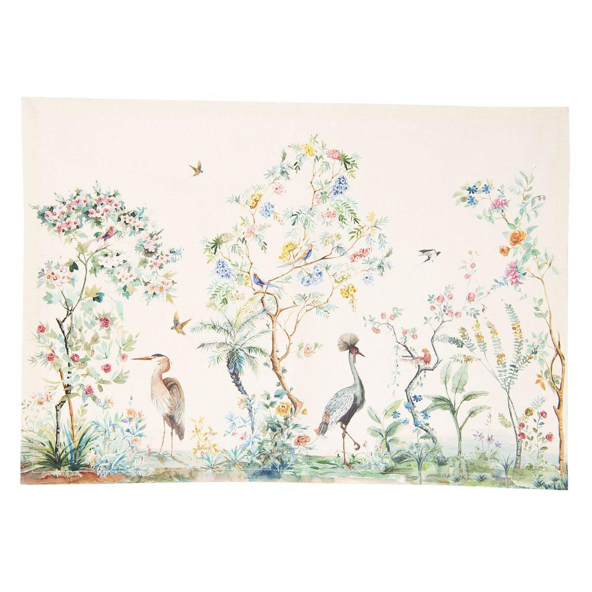 Textilní prostírání BIRDS IN PARADISE 48*33 cm - sada 6 kusů