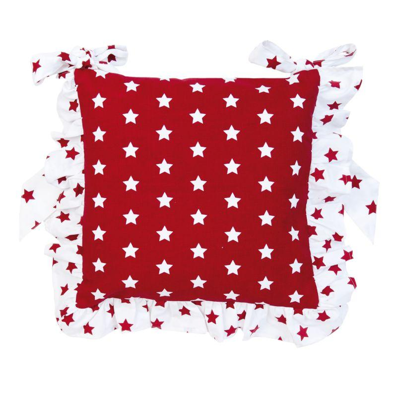 Podsedák  CATCH A STAR red 40*40 cm