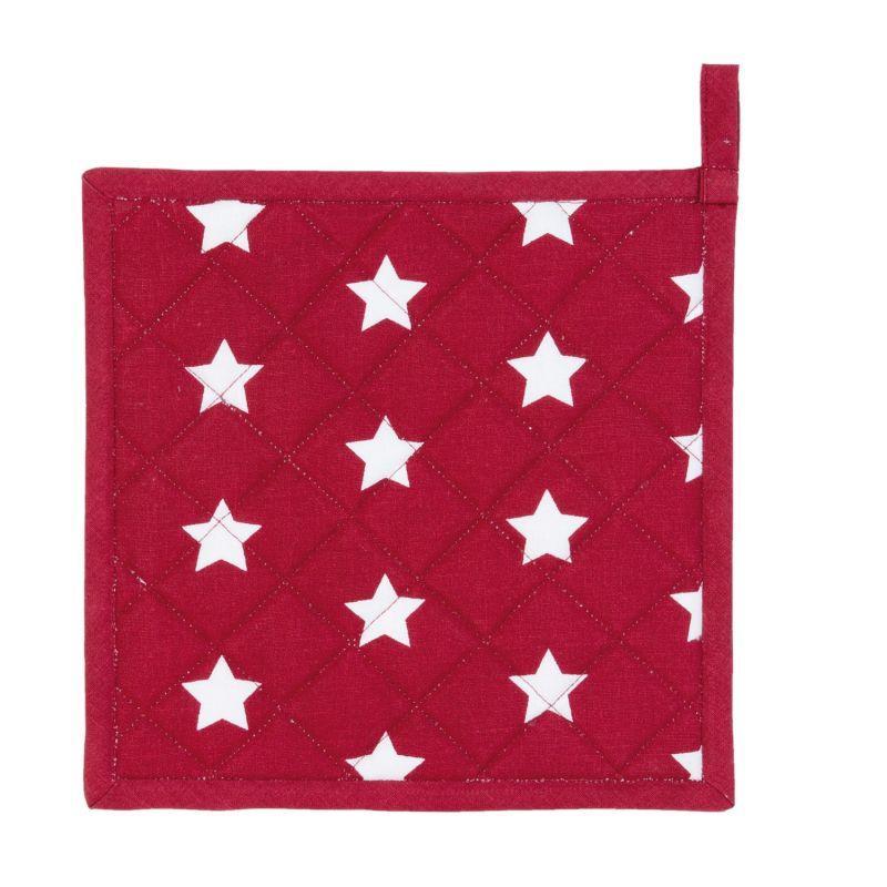 Podložka pod hrnec nebo chňapka CATCH A STAR red 20*20 cm