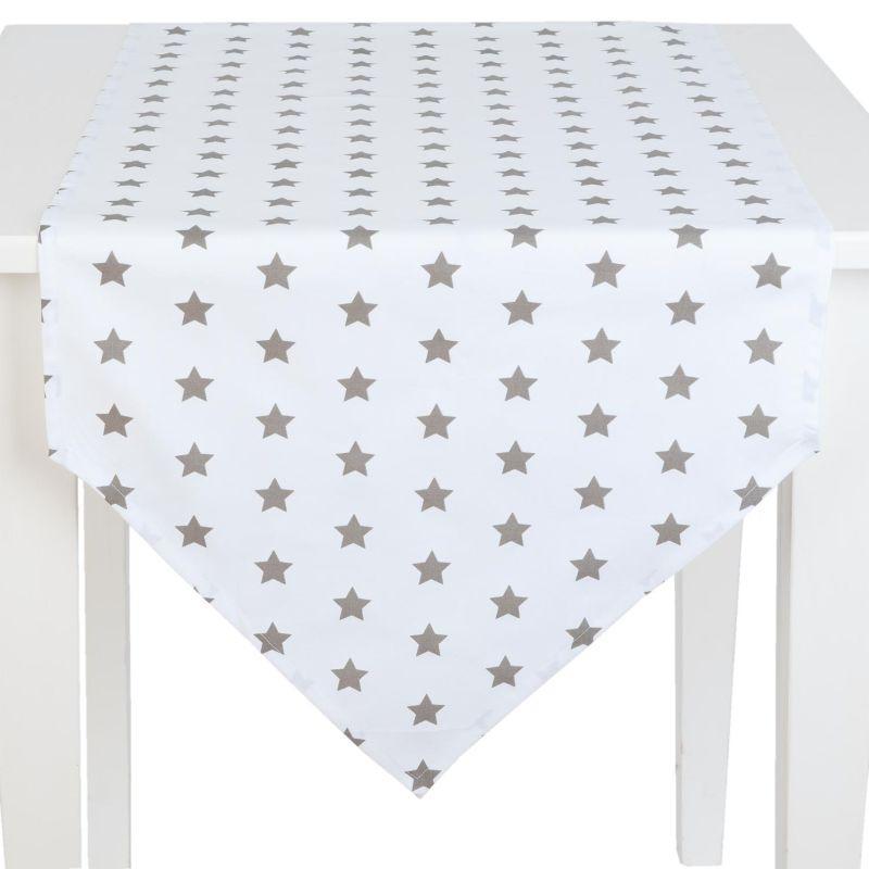 Běhoun na stůl CATCH A STAR taupe 50*160 cm