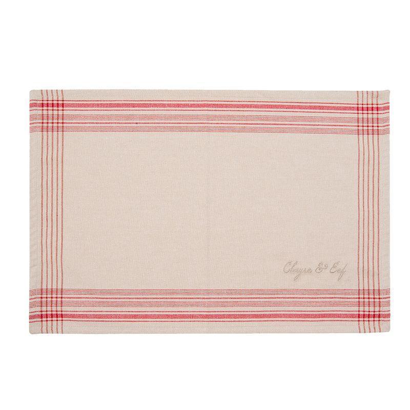 Textilní prostírání COUNTRY ESSENTIAL red 48*33 cm - sada 6 kusů