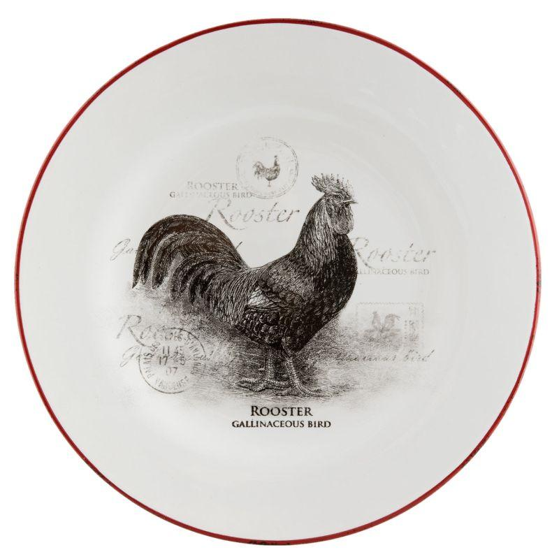 Keramický dezertní talíř COUNTRY SIDE ANIMAL ROOSTER