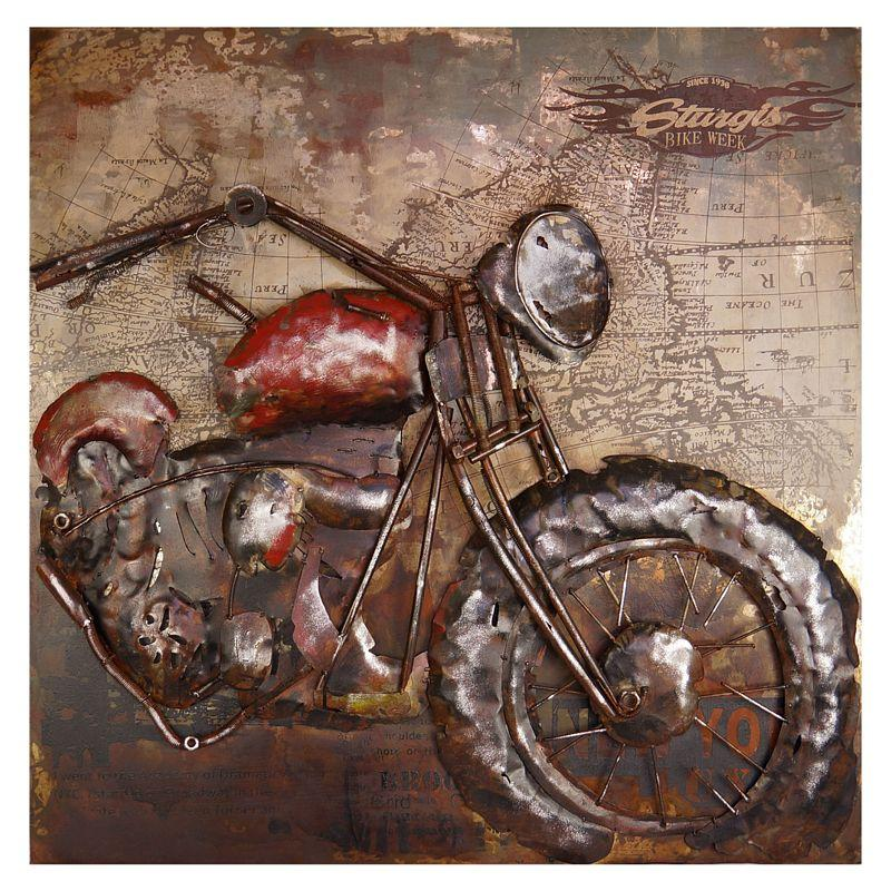 Kovový obraz MOTORCYCLE