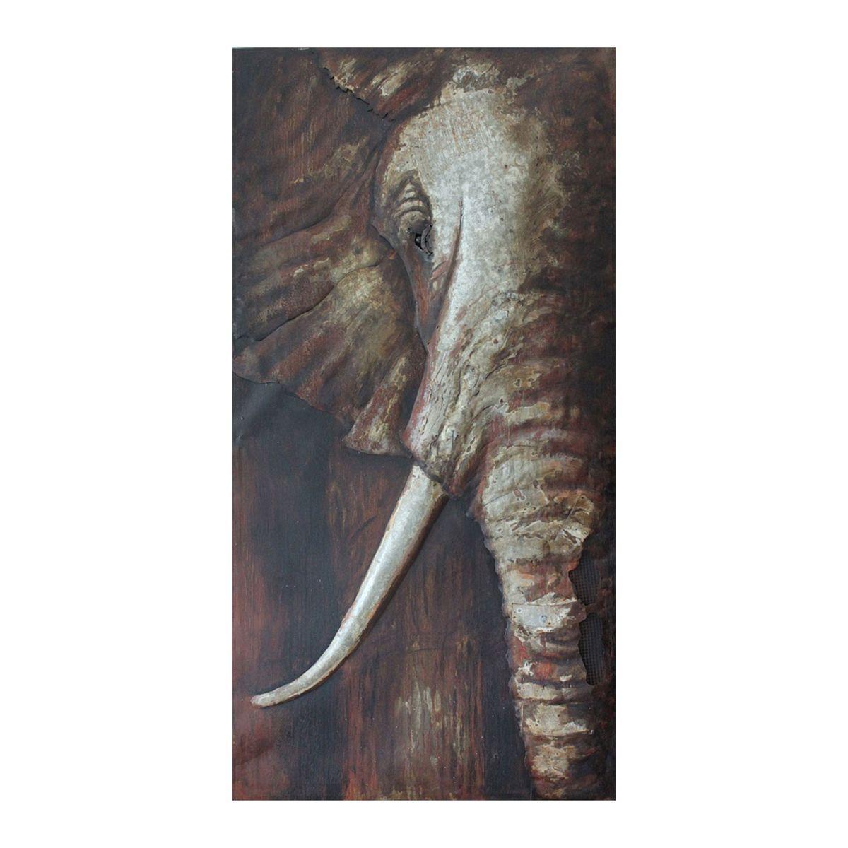 Kovový obraz ELEPHANT