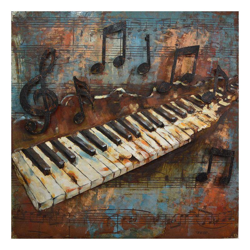 Kovový obraz PIANO