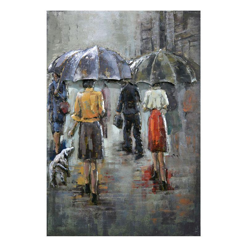 Kovový obraz RAIN SCENE