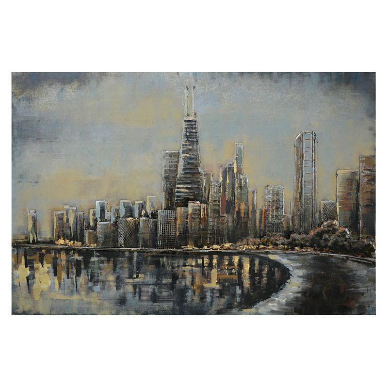 Kovový obraz CITY