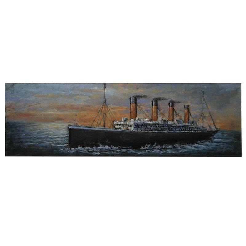 Kovový obraz TITANIC