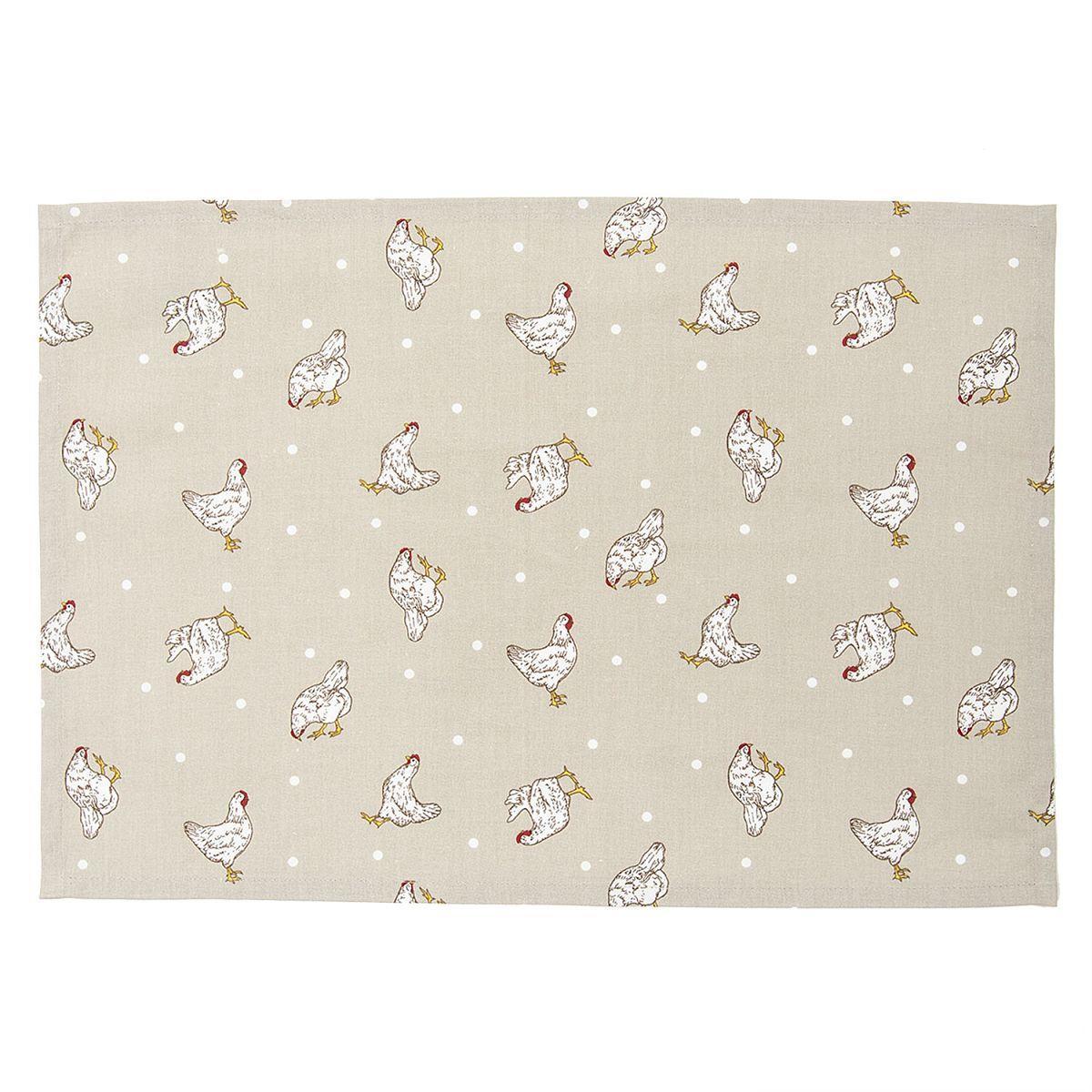 Textilní prostírání LITTLE CHICKEN 48*33 cm - sada 6 kusů