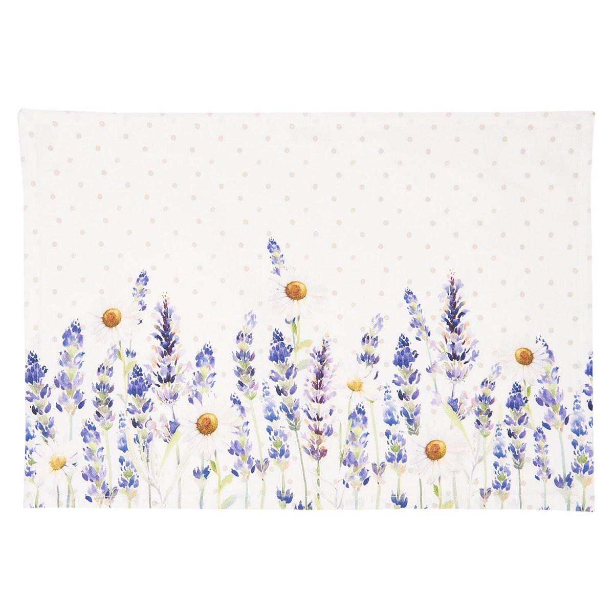 1- Textilní prostírání LAVENDER FIELDS 48*33 cm