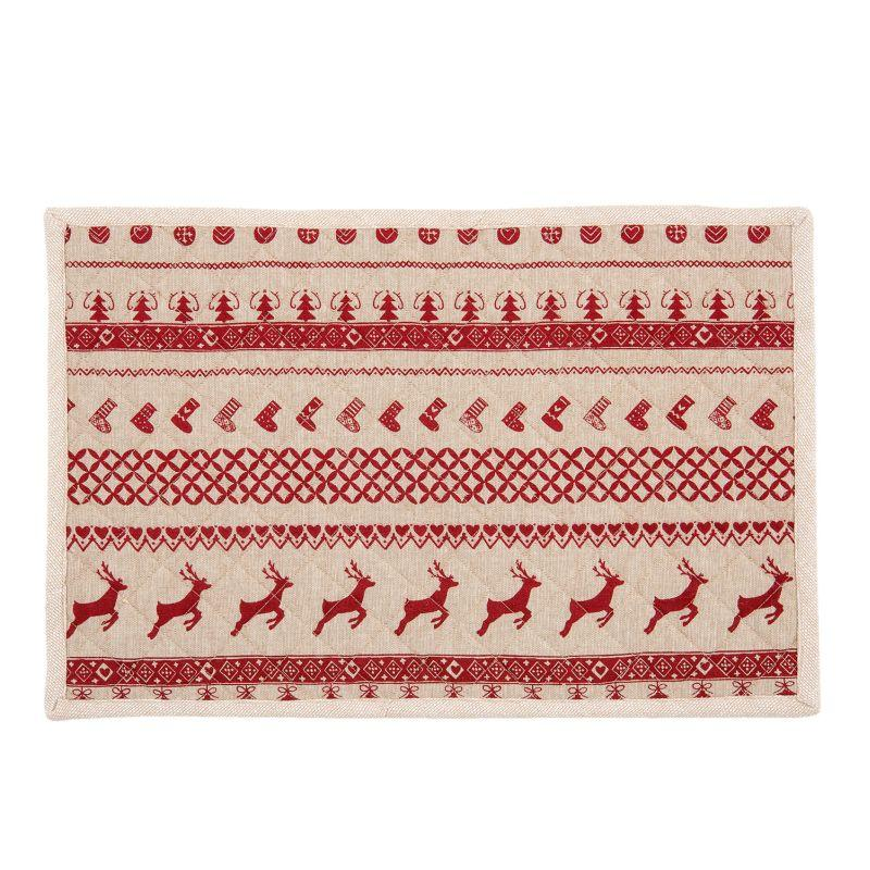 Textilní prostírání NORDIC CHRISTMAS 48*33 cm - sada 6 kusů