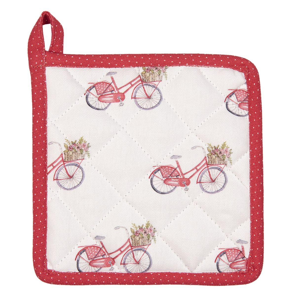 Malá podložka pod hrnec nebo dětská chňapka RED BICYCLE 16*16 cm