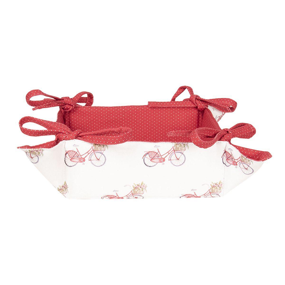 Košík na pečivo RED BICYCLE 35*35*8 cm