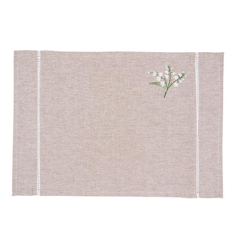 Textilní prostírání 48*33 cm SNOWDROP/ks