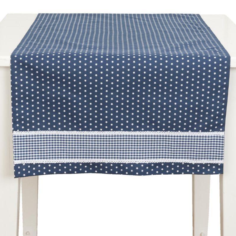 Běhoun na stůl TWINKLE LITTLE STAR blue 50*140 cm
