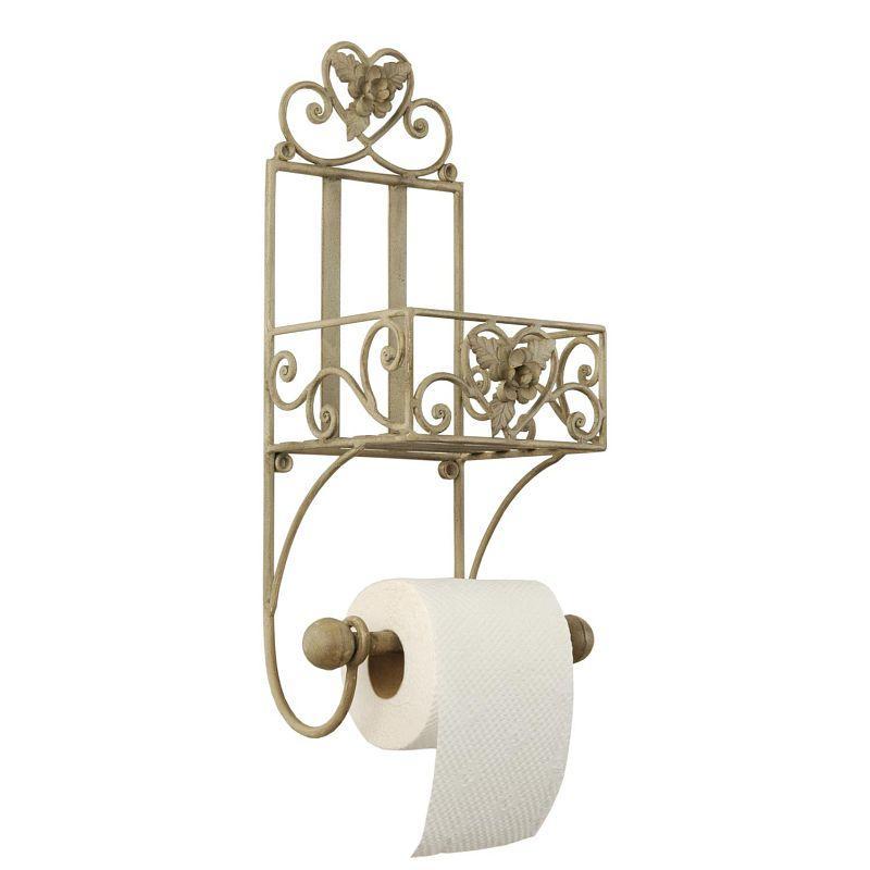 Držák na toaletní papír s poličkou